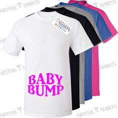 Baby Bump Baby Girl! Loose fit T-Shirt Brand new expecting mother gifts for mum…