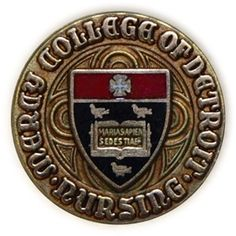 My Mercy College of Detroit Nursing pin