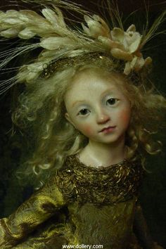 Anna Abigail Brahms Collectible Dolls--this is not a painting, but a doll!