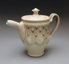 Peacock Tea Pot by ameliastamps on Etsy, $120.00