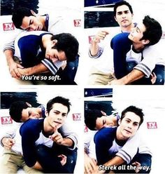 I'm not really a Sterek fan but I just love how Dylan and Tyler are so silly. But I'm more of a Stiles and Lydia fan or a Stiles and Milia fan ;)