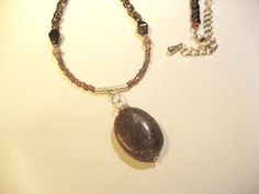 Purple Lepidolite Pendant Necklace by TheChiMuse on Etsy, $22.00