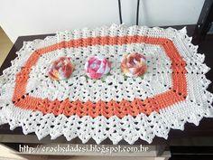 Artes da Desi: Tapete de Crochê com flores Roseta