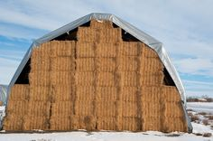 Ranch, Farm & Ranch Supply: Bumper Crop of Hay Means More Hay Tarps in Action Ice Dams, Build A Frame, Concrete Pad, Hay Barn, Firewood Storage, Cinder, Organic Farming, Best Sites, Agriculture