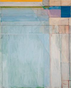 Richard Diebenkorn, Ocean Park oil on canvas, 100 x 81 inches. San Francisco Museum of Modern Art, gift of Friends of Gerald Nordland. © The Richard Diebenkorn Foundation. Image courtesy San Francisco Museum of Modern Art, photograph by Richard Grant. Contemporary Paintings, Abstract Art Painting, Art Painting, Abstract Artists, Richard Diebenkorn, Abstract Painting, Painting, Abstract Art, Abstract