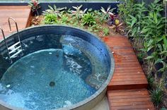 Became concrete pools ; Small Backyard Pools, Small Pools, Indoor Pools, Pool Decks, Jacuzzi, Natural Swimming Pools, Natural Pools, Stock Tank Pool, Mini Pool