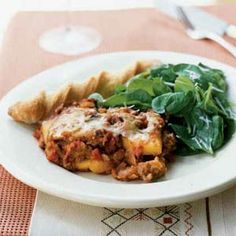 This polenta lasagna is a great way to work extra vegetables into a weeknight meal, as it calls for chopped zucchini, mushrooms, onion, and red bell pepper.