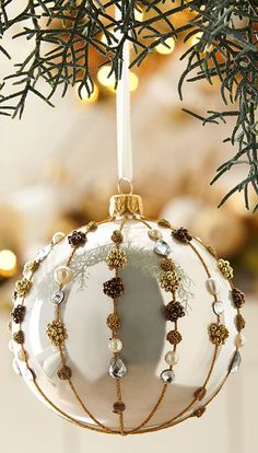 Find shimmer and gold Christmas ornaments for a holiday home that is rich, warm and wonderful. Shop Buyer Select for Christmas decorations that sparkle. Homemade Christmas Decorations, Glass Christmas Tree Ornaments, Xmas Decorations, Christmas Bulbs, Christmas Holidays, Christmas Crafts, Christmas Presents, Lights, Crafty