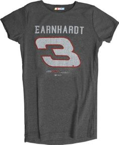Dale Earnhardt Women's #3 Heathered Player T-Shirt by Checkered Flag. $21.99. Make a bold statement and proclaim your love for your favorite racecar driver with this Dale Earnhardt Women's #3 Heathered Player T-Shirt! Stylish NASCAR t-shirt for women features a slim cut and screen print graphics, making it a must-have piece of NASCAR apparel for racing fans.