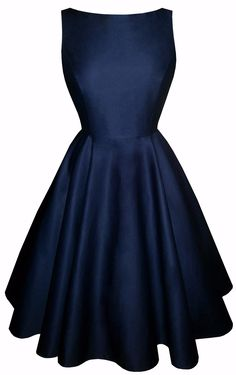 Full circle 'Josie' in navy cotton-A replica of this dress, made to measure  Please Note - This can be ordered the normal way (through our made to order service) and it would cost the same but some of our newer customers aren't as confident in ordering so we are now also offering this simpler way to order a replica dress.