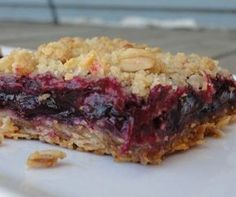 My wooden spoon is now forever purple, but these rhubarb blueberry bars are totally worth it. Made them tonight and they are delicious!