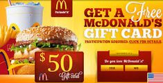 Mcdonalds Gift Card Discount. #giftcard #gift #mcdonalds #food #burger #McDonald's Gift card ! #mcdonaldsbreakfast Free Mcdonalds, Mcdonalds Gift Card, Get Gift Cards, Itunes Gift Cards, American Fast Food, Mcdonalds Breakfast, Netflix Gift Card, Gift Card Giveaway, Easy Food To Make