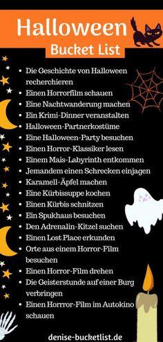 Halloween Bucket List - Ideen zum Gruseln inkl. Download