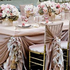 wedding reception tables. this design is not my cup of tea, but still, looks very lovely to me. :)