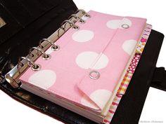 Tasche Kalender Rosa passend für Filofax Personal - ein Designerstück von rainbowcaraways bei DaWanda