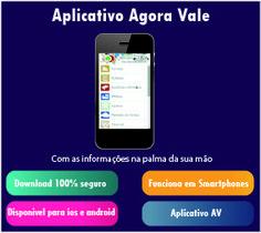 """Banner para o site da empresa """"Agoar vale"""" do seu aplicativo."""
