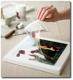 Transfer images to canvas, pillows, or furniture; link has mod podge ideas - thinking of maps mod podge on kitchen table