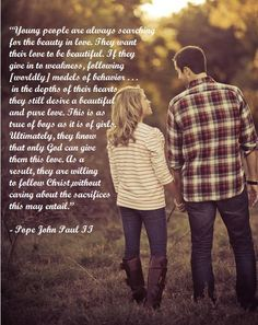 A word about love by Pope John Paul II