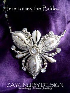 Nadine Tri-cowry necklace. by *zayday on deviantART