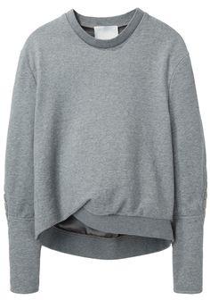 biker sleeve sweatshirt ++ 3.1 phillip lim