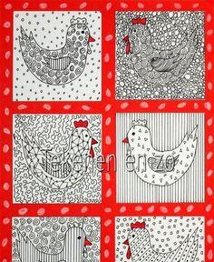 Benodigdheden: wit tekenpapier stukje karton zwarte fineliner rode stift plaksel en schaar Knip een stukje karton van 7 bij 7 cm. Teken hier...