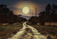 moon road by Piotr J