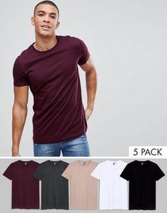590535ad34b9 ASOS DESIGN crew neck t-shirt 5 pack multipack saving Asos, Empaque,  Underwear