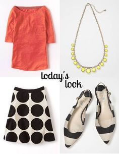 Pair monochrome magic with a pop of colour for a look that hits the spot. #Boden
