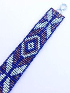 Seed beads bracelet American Native bracelet beadweaving by jochec