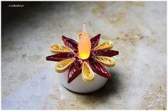 Quilling LED Teelichter Gelbi mit Glitzer von Liebeabies auf DaWanda.com
