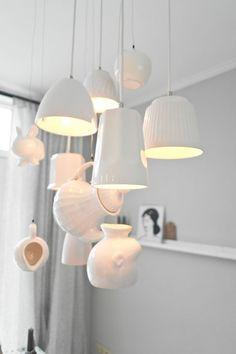 Lamp van servies