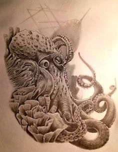 Ghost ship!  Octopus Tattoo Idea by x-SINDICATE-x on deviantART