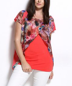 Take a look at this Senshe: Coral Waterfall Tunic by Senshe on #zulily today!