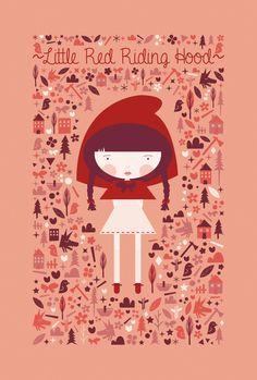 Little Red Riding Hood | Print by Martina Gloria, via Behance