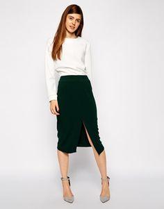 ASOS+Mid+Length+Split+Front+Pencil+Skirt
