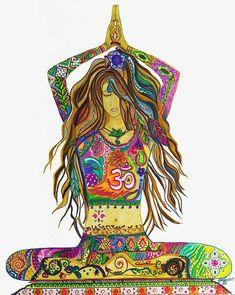Yoga pose-yoga painting yoga art-yogi art yogi girl-boho #yoga #yogaposes #yogafitness #yogatraining #yogapinterest #yogaforbegginers