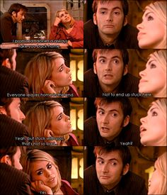 <3 Rose and the tenth Doctor. David Tennant and Billie Piper.