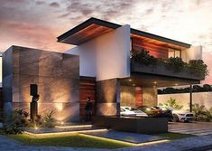Top 10 cozy houses in the Modern style Sky Rye Design is part of Modern house exterior - Many are accustomed to that modern architecture is cold, metal and any coziness in particular, this is true, but not all projects House Front Design, Modern House Design, Modern Architecture House, Architecture Design, Architecture Interiors, Luxury Homes Dream Houses, Modern Mansion, Dream House Exterior, Villa Design
