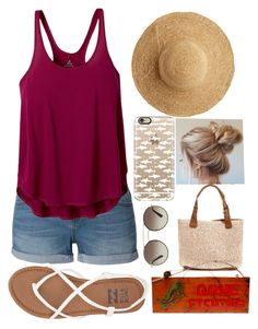 """""""going fishing """" by queen-hstyles ❤ liked on Polyvore featuring LE3NO, Billabong, prAna, Flora Bella, Casetify, Rustic Arrow and Prada"""