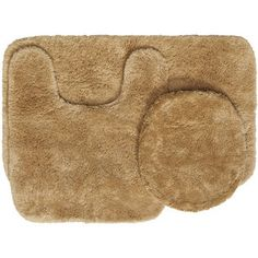 Elegant Tan Bath Rug Set
