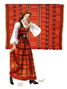 Hallingdal Lady Blue Bunad, NOrway My Heritage, Oslo, Folklore, Norway, Scandinavian, Europe, Traditional, Costumes, Lady