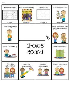 Choice Boards - Free!