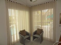 Modern sheer window treatments