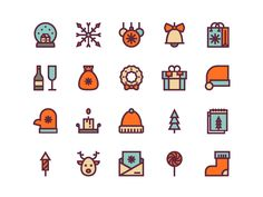 Christmas Icons by Igor Varёnov #Design Popular #Dribbble #shots