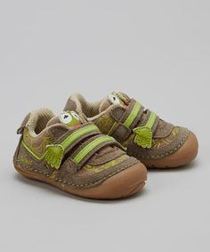 Take a look at this Brown & Green Disney™ Kermit Sneaker on zulily today! I wish teeny man had teeny feet!
