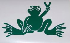 Hey, I found this really awesome Etsy listing at https://www.etsy.com/listing/167040898/frog-peace-sign-vinyl-decal-sticker-pick