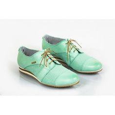Dámske kožené poltopánky dierkované zelené DT227 - manozo.hu Men Dress, Dress Shoes, Derby, Jazz, Oxford Shoes, Lace Up, Fashion, Moda, Fashion Styles