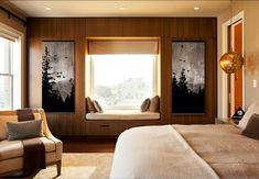 Beautiful Mountain View Rustic Wall Art - Set of 2 Paintings on Reclaimed Wood