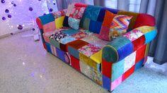 Nuevo diseño de sillón patchwork. Fabricamos el mueble de tus sueños. Llámanos y cuéntanos tu proyecto. Cel/whatsapp: 2226112399  #vintage #retro #fashion #decoración