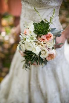 Peony and Succulent Bouquet | photography by http://shanewelch.com | floral design by @Fleur  http://fleurchicago.com/